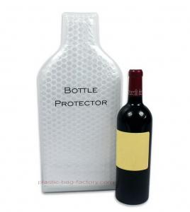 China Leak-Proof Wine Cooler Bag Carrier Reusable Wine Bottle Protector With Interior Air Bubble Cushion on sale