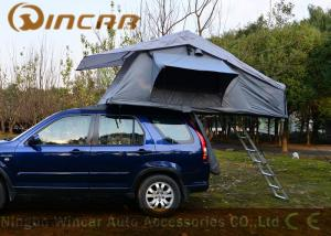 Quality Grey Overland Hard Top Roof Top Tent 5 Sizes For Camping , Roof Box Tent for sale
