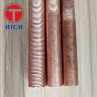 Round Copper Coated Alloy Steel Tubes / Heat Exchanger Iow Finned Tube