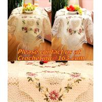 lace table cloth for wedding cutout, Tablemat, Corcheted Lace Table linen, Tablecloth