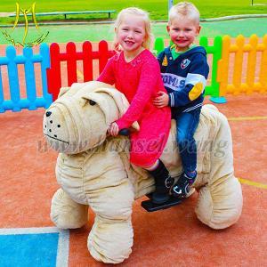 China Hansel battery motorized plush riding kids animal rides on sale