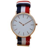 YJ792 famous design nylon strap watch, hot sales ladies man watch