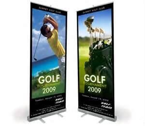 China VL-RS-11 Wide Base chromed plastic Roll up Banner Stands with double layer for promotion sales  on sale