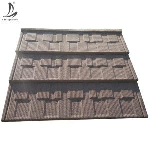 China China factory price galvalume steel material stone coated metal roofing tiles on sale