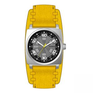 China Men's Square Quartz Wrist Watch With Leather Strap , High End Quartz Watches on sale