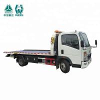 LHD Flat Bed Wrecker Tow Truck For Moving Indisposed Motor Vehicles 7600X2500X2650mm