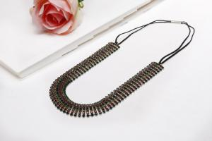 China Charming Hair Wire Wrap With Stretch Rope Elegant Crystal Bridal Jewelry for Women BLN0056-1 on sale