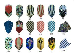 Quality PET Dart Flights With Thickness 100micron, 125micron, 150micron for sale