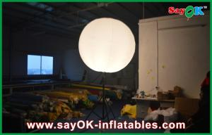 China Led Bulb Diameter 2m Inflatable Advertising Balloons Stand Pole on sale
