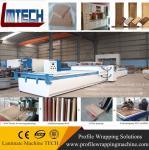 pvc mdf folding door vacuum membrane press machine