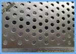 Powder Coated Perforated Metal Sheet Staggered Round Punched Customized Length