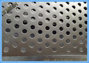 China Powder Coated Perforated Metal Sheet Staggered Round Punched Customized Length on sale
