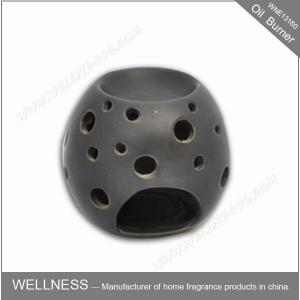China Beautiful Design Ceramic Fragrance Oil Burner Egg Shaped , Pattern Exposure on sale