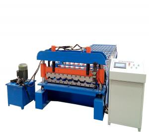 China Aluzinc PPGI  Roofing Sheet Roll Forming Machine With Siemens Motor on sale