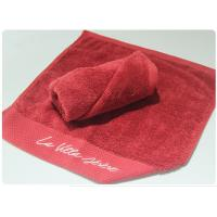 100% Cotton Hotel Hand Towel 35x75cm , 40x70cm Red Color For Sale
