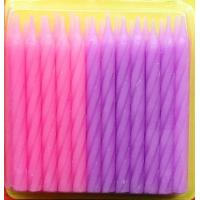 Pink And Purple Color Spiral Cake Candles For Grils Birthday Party Decorative