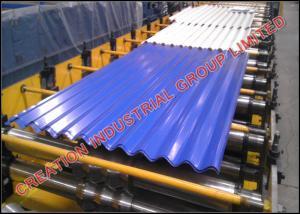 China Petit pain en acier ondulé de haute résistance de panneau de toit formant la machine on sale