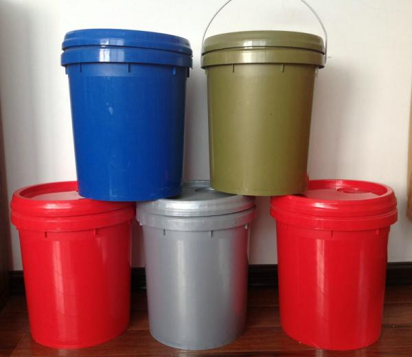Custom Food Grade Blue Gray Pp Plastic Storage Barrels Bucket With