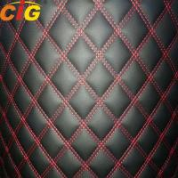 China Embroidery Pvc/Pu Artificial Leather with 4-6mm Foam and PP non-woven back and XPE backing used for Car Carpets on sale