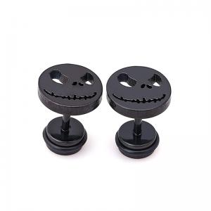 China Skull earring bad smile stud earrings Halloween ear stud man woman unisex fashion ear piercing jewelry on sale