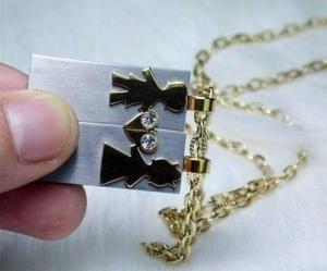 China Valentine's Best Gifts Lover's USB Flash Necklace on sale