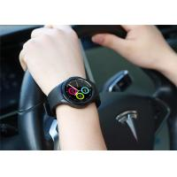 IP65 Waterproof LED Smart Watch Silicone Strap Material 120mAh Battery Capacity