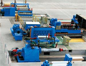 China PLC Control Rewind Steel Metal Slitting Machine With Human - Machine Interface on sale