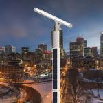 Integrated Outdoor Smart Solar Street Light Pole Aluminum Alloy LIFEPO4 Battery