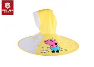China Transparent Childrens Waterproof Raincoats Peppa Pig Shape Kids Umbrella Cap on sale