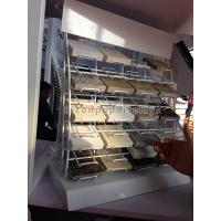 Metal White Powdered Granite Tile Display Racks Desktop For Retail Showroom