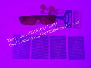 China Blue Texas Hold'em plastic marked cards for uv perspective glasses/invisible ink/marked cheating cards/poker cheat on sale