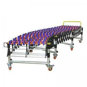 China Flexible Expandable Conveyor Belt System Plastic Roller For Industrial Warehouse on sale