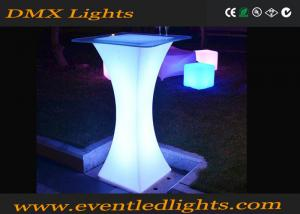 China Wedding party portable bar tall cocktail tables for events , cocktail reception table on sale