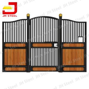 China Steel Frame Bamboo Horse Stall Gates , Custom Prefab Horse Stables on sale