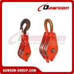 DAWSON DSPB-F2 Hook (Chain link) Series Closed Double Wheel Pulley  from China Manufacturer