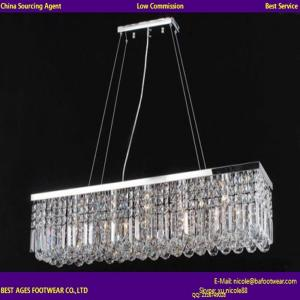 China New Modern Contemporary Crystal Pendant Light Ceiling Lamp Chandelier Lighting on sale