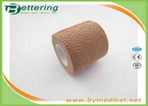 China Breathable Stretch Elastic Adhesive Bandage Tape Waterproof For Compresison Wrap on sale