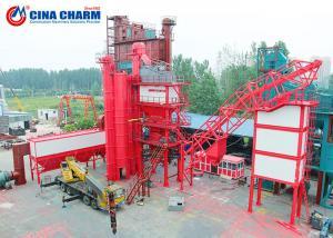 China 100 - 120 Ton Stationary Asphalt Concrete Plant , Double Mobile Asphalt Drum Mix Plant on sale