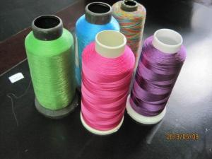 China Colorful Embroidery Thread , Dyeing Embroidery Sewing Thread on sale
