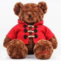 China CE 30cm Stuffed Animal Toys Brown Teddy Bear Customized With Coat on sale