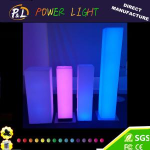 China Garden Plastic Furniture LED Light up Pillar Lamp on sale