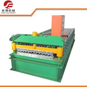 China Iron Sheet Corrugated Sheet Roll Forming Machine , Metal Roof Panel Machine  on sale