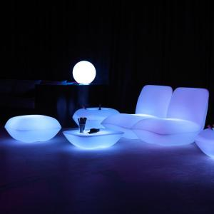 China Illuminated Glow LED Table And Chairs Plastic Lighted Pillow Chair Sofa Durable on sale