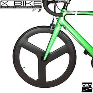 China Sale road full carbon bike spoke wheel,3 spoke bicycle wheel,carbon tri-spoke wheel on sale