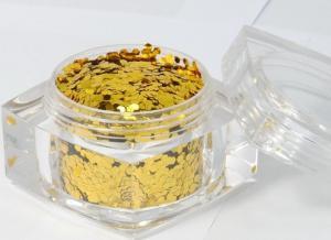 China Non Toxic Gold Glitter Powder / Holographic Glitter Powder on sale