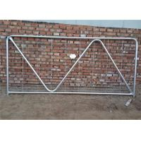 China N Type Metal Cattle Fence , Metal Tube Farm Gates With W / Hinge And Latch on sale