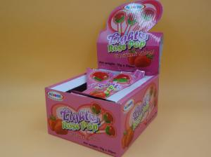 All Natural Rose Hard Strawberry Candy Lollipops Sugarless Zero