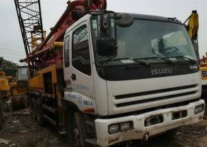 China ISUZU 37 White Used Concrete Pump With 32.1 Meters Maximum Cloth Depth on sale