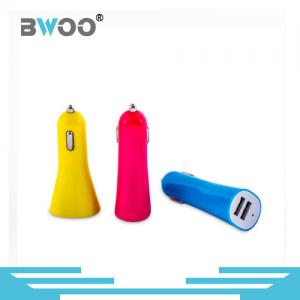China Bwoo Colorful Dual USB Ports Car Charger Output 5V 1A/ 5V 2.1A/ 5V 3.1A with Indicator Light on sale