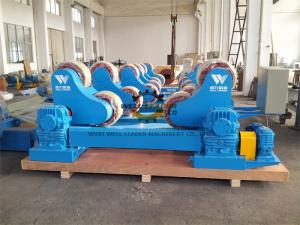 China 100 Ton Heavy Duty Pipe Rollers Rotator With Moving Wheels CE Approved on sale